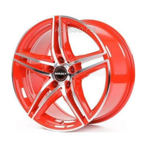 Borbet XRT Red Front Polished