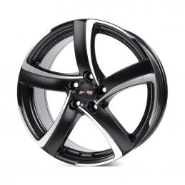 Alutec Shark 7x16 PCD5x112 ET48 DIA 70.1  Racing Black Front Polished