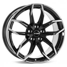 Rial Lucca 6.5x17 PCD4x108 ET20 DIA 65.1  Diamond Black Front Polished